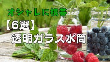 【おしゃれに携帯】透明ガラス水筒【6選】